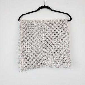 Cejon Accessories - Cejon | Grey Metallic Loose Knit Circle Scarf OS